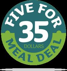 5 for $35 logo