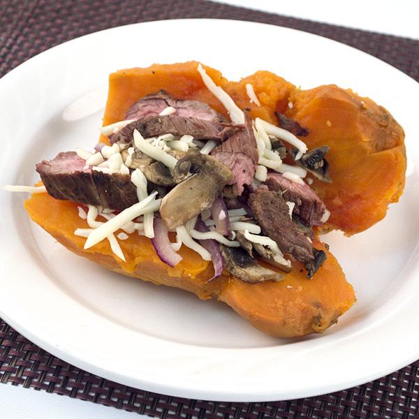 Healthy Course - Stuffed Sweet Potato with Steak